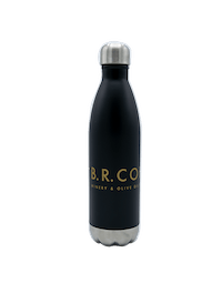 BR Cohn Black Water Bottle with Gold Logo