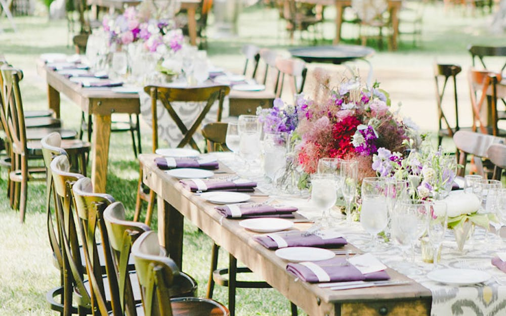Event Table Settings in the Olive Grove